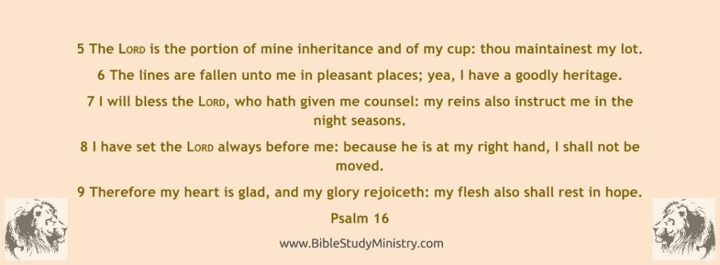 Psalm chapter 16 verse 5 - 9