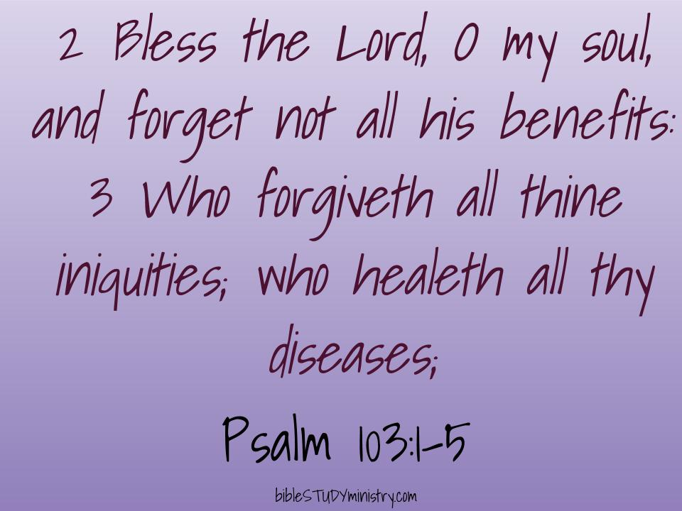 Devotional: Who Healeth All Thy Diseases